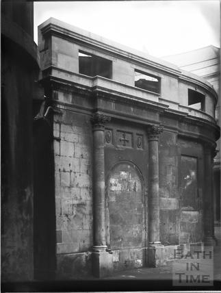 Wall of the Cross Bath, Bath c.1903