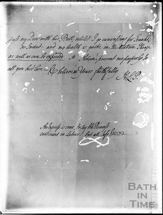 Letter from Mrs. Piozzi 1817