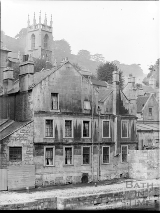 Rear view, Cold Bath House, 26, Claverton Street, Bath c.1903