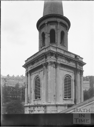 St. Swithin's Church tower, Walcot, Bath c.1903