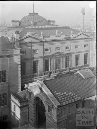 Rear view, Guildhall and Fire Station, Bath c.1903