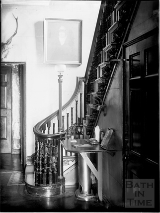 Staircase, 27, Queen Square, Bath c.1903