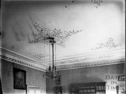 Dining room ceiling, 30, Royal Crescent, Bath c.1903