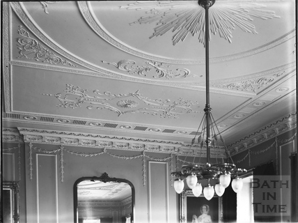Ground floor dining room ceiling, 30, Royal Crescent, Bath c.1903