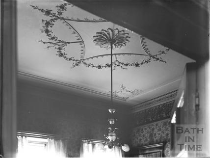 Plaster ceiling, 30, Royal Crescent, Bath c.1903