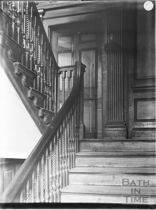 Staircase, Rosewell House, 14, Kingsmead Square, Bath c.1903