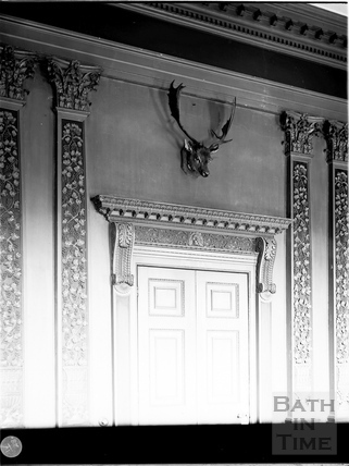 Door in dining room, Prior Park, Bath c.1903