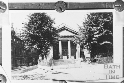 St. Mary's Chapel, Queen Square, Bath c.1870 - detail