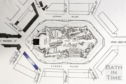 Sydney Gardens, Vauxhall, Bath 1794-5 - detail