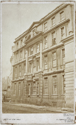 Dr. Bave's house, Lower Borough Walls, Bath c.1860