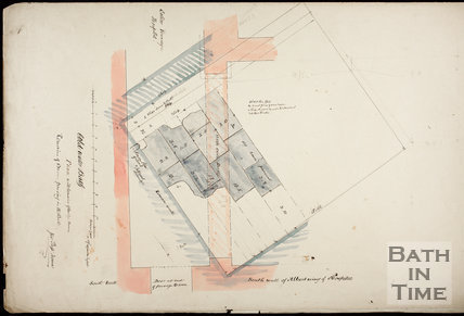 Plan of Cold Water Bath during excavations for the Albert Wing of the United Hospital 1864