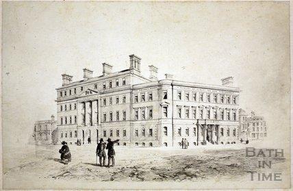 The Albert Wing, Royal United Hospital, Beau Street, Bath c.1870