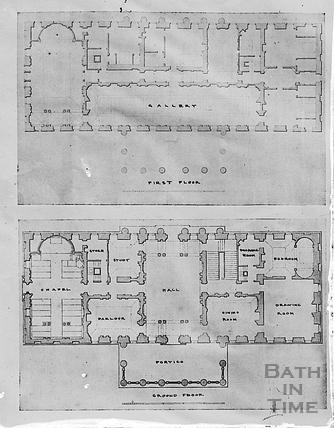 Plan of Prior Park, Bath