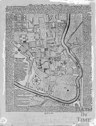 A New and Correct Plan of Bath c.1734
