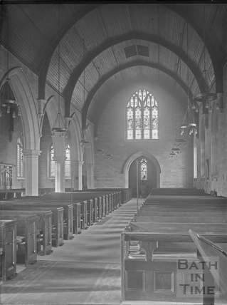 Interior, St. Luke's Church, South Lyncombe, Bath c.1903