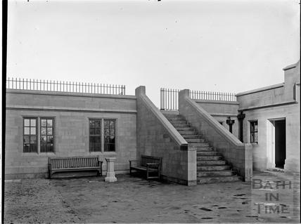 Steps, Royal School, Lansdown, Bath c.1928