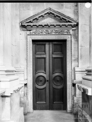 Chapel doorway, Prior Park, Bath c.1903