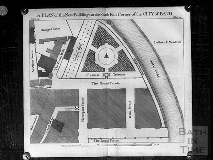 A Plan of the New Buildings at the South East Corner of the City of Bath