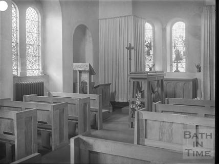 Interior, Lansdown Cemetery Chapel, Bath c.1903