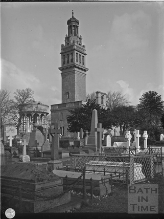 Beckford's Tower and Lansdown Burial Ground, Bath c.1903