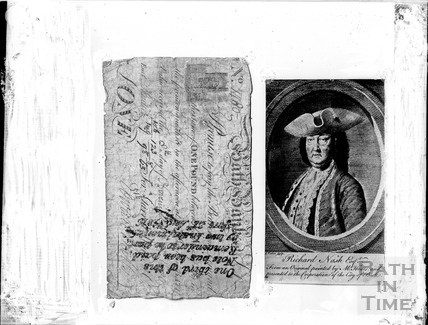 Bath banknote and portrait of Beau Nash