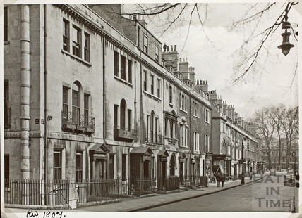 North side of Brock Street from Upper Church Street, Bath