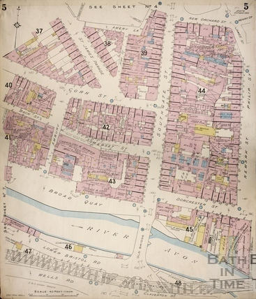 Goad Map of the Southern end of Bath 1902