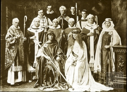 Bath Historical Pageant. Episode 3. King Edgar, Queen Elfrida and Bishops July 1909