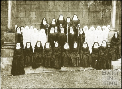 Bath Historical Pageant. Episode 3. Group of Nuns July 1909