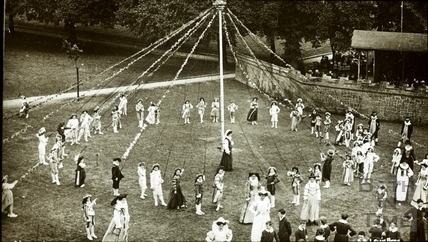 Bath Historical Pageant. Episode 5. Maypole Scene July 1909