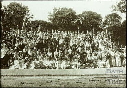 Bath Historical Pageant. Episode 3. Group of Performers July 1909