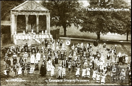 Bath Historical Pageant. Episode 4. Group of Performers July 1909