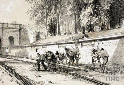 Navvies, Sydney Gardens, Bath c.1840 - detail