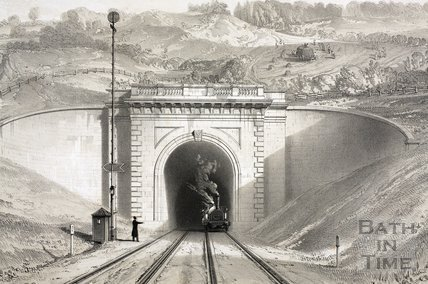 Box Tunnel, West front c.1840 - detail