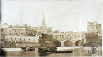 View of Pulteney Bridge and Weir, Bath c.1890