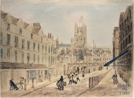 High Street and Old Guildhall Market, Bath