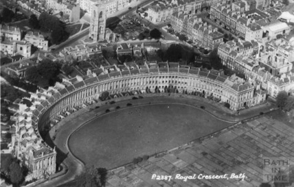 Royal Crescent, St. Andrew's Church and Margaret Chapel, Bath c.1950