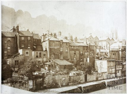 Rear of Claverton Street, Bath c.1890
