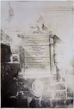 Memorial to William Warburton, Gloucester Cathedral, Gloucester c.1890