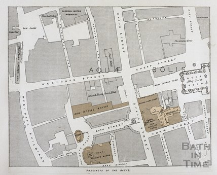 Map of Precincts of the Baths, Bath c.1870