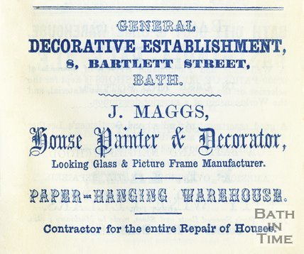 Trade Advertisement for J. Maggs, House Painter & Decorator 1858