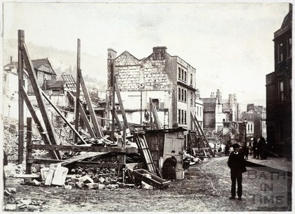 The Aftermath of the Hedgemead Landslip, Somerset Buildings, Bath 1881