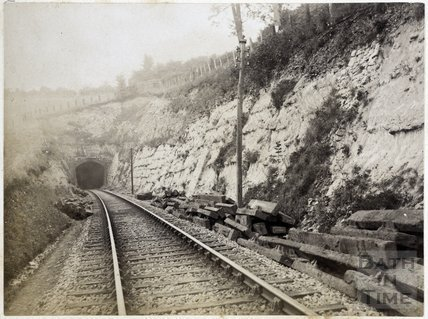 South Portal, Combe Down Tunnel, Bath. Cutting in Midford Sands c.1895