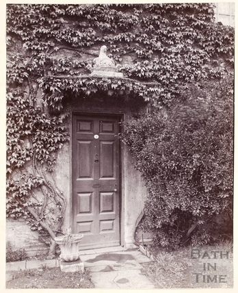 Front Door of Henry Fielding's House, Fielding's Terrace, Lower Bristol Road, Twerton, Bath c.1895
