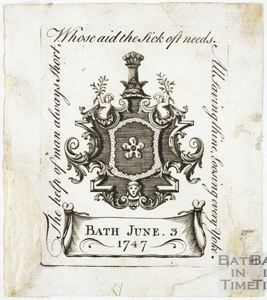 Unidentified Bookplate/Crest 1747
