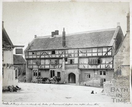 George Inn and Fleur De Lys Inn, Norton St. Philip c.1890