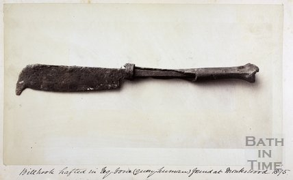 Billhook hafted in leg bone (query human) 1894