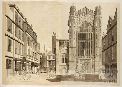 West front of the Abbey Church, Bath 1788