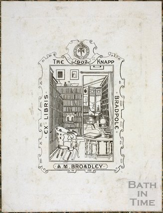 Bookplate, A.M. Broadley