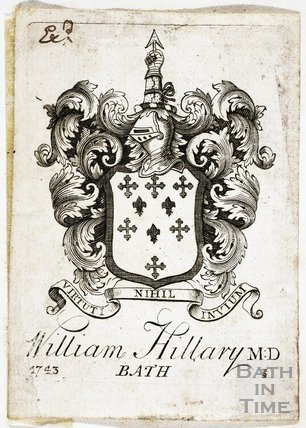 Bookplate/Crest, William Hillary, Bath 1743